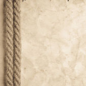 Aged Rope on the old paper — Stock Photo