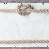 Ve věku lano na starý papír — Stock fotografie