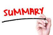 Summary — Stock Photo