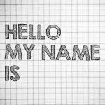 HELLO my name is — Stock Photo #41194417