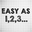 "Stock Photo: ""easy as 123"""