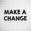 Make a Change — Stockfoto
