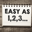 """easy as 123"" — Stock Photo #41198069"