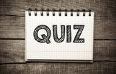 Quiz — Stock Photo
