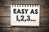 """easy as 123"" — Stock Photo"