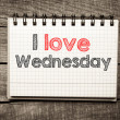 I Love wednesday — Stock Photo #41230115