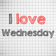 I Love wednesday — Stock Photo #41230663