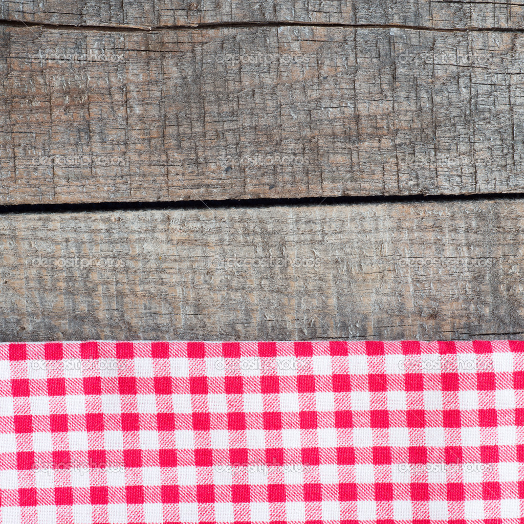 Tablecloth textile texture on wooden table — Stock Photo © roobcio ...