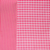 Red tablecloth — Stock Photo