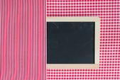 Menyn kort svarta tavlan — Stockfoto