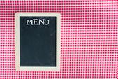 Einer menü-karte-tafel — Stockfoto