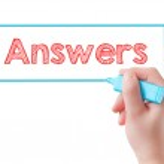 Hand writing Answers — Stock Photo #41612119