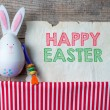 Easter rabbits decoration — Stock Photo #42109337