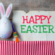 Easter rabbits decoration — Stock Photo