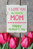 I love you so much MOM — Stock Photo