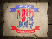 Happy independence day 4 of july — Stock Photo