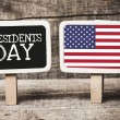 Presidents Day with usa flag — Stock Photo