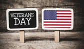 Veterans Day with American flag — Stock Photo