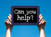 Can you help ? — Stock Photo