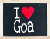 I love Goa — Stock Photo