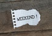 Weekend — Stock Photo