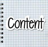 Content — Stockfoto