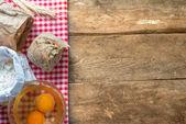 Baking fresh bread — Stock Photo