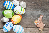 Pastel colored Easter eggs — Stock Photo