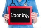 Snoring — Stock Photo