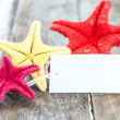 Star fish and card — Stock Photo #43935077