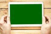 Tablet pc with empty screen — Stock fotografie