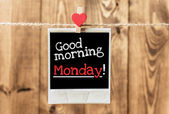 Good morning  Monday — Stok fotoğraf