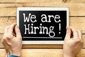 We're hiring — Stock Photo
