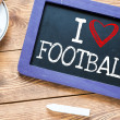 I love Football — Stock Photo