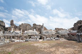 Ruins of ancient city in Side — Stock Photo