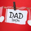 Dad I love you message — Stock Photo #48087859
