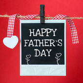 Happy Father's Day message — Stock Photo