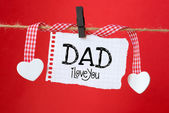 Dad I love you message — Foto de Stock