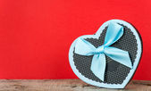 Handmade heart shape box — Stock Photo
