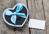 Handmade heart shape box — ストック写真