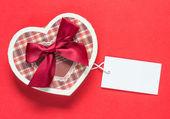 Handmade heart shape box — Stock Photo