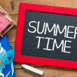 Summer time handwritten chalkboard — Stock Photo #48600575