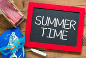 Summer time handwritten chalkboard — Stock Photo