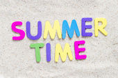 Summer time  text — Foto Stock