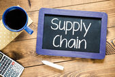 "Tafel mit text ""supply chain"" — Stockfoto"
