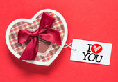 Heart shape box — Stock Photo