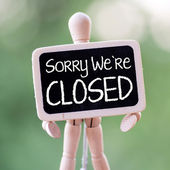 Sorry we're Closed — Stock Photo