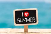 I love summer — Stock Photo