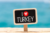 I love turkey — Stock Photo