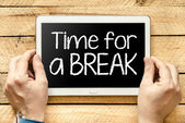 Time for a break — Stock Photo